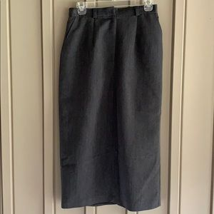 Requirements Long Gray Skirt size 6